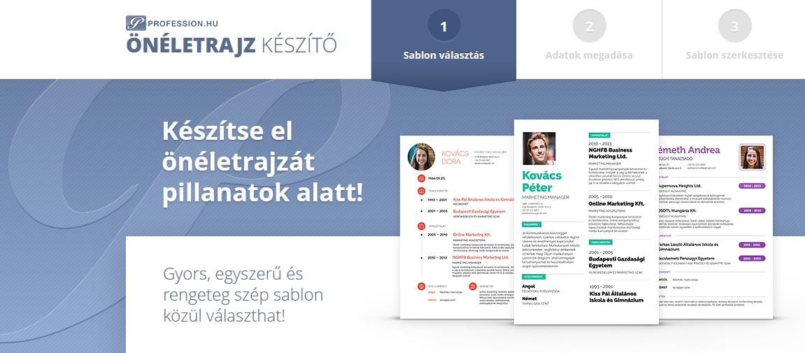 önéletrajz készítő program online Ilyen egyszerű az önéletrajz elkészítése   Profession.hu önéletrajz készítő program online