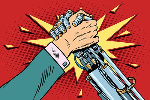 Humán vs. robot